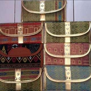 Songket Ethnic Purse Woman Wallet