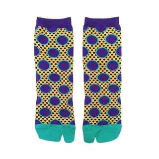 Socks ::: 設計師品牌迷幻繽紛跳色點點短襪✨💟✨迷幻藍紫✨Razzle Dazzle Brand