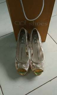 Cloi brukat wedding shoes