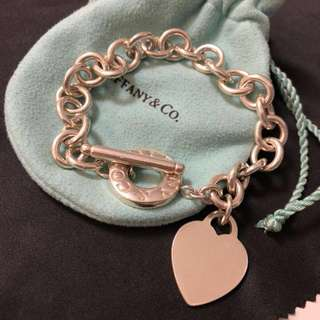 減價‼️Tiffany bracelet with heart tag