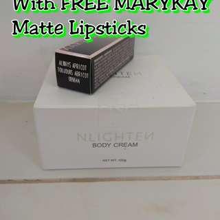 Nlighten Body Cream with FREE Mary Kay Lipstick