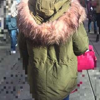 東大門大熱毛毛靚軍綠色外套款年年襟興保暖jacket