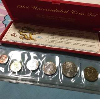 1988 uncirculated coin set