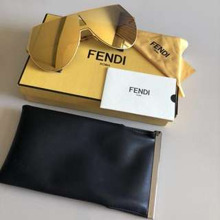 FENDI Metal Flat Aviator