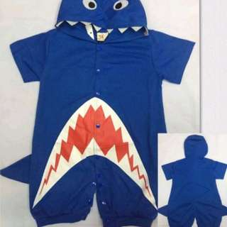 Baby shark costume onesies blue