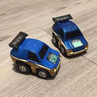 舊款 絕版 TOMY Takara Tomica Choro Q 三菱 Mitsubishi Pajero 一套兩部