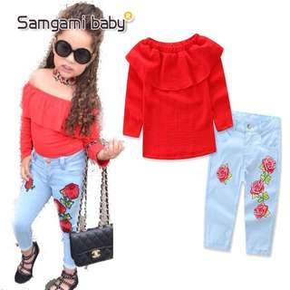 Clothes+pants set baby girl
