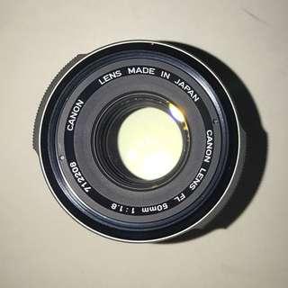 Canon LENS FL 50mm 1:1.8 鏡頭