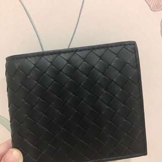 Bottega Veneta All Black Mens Wallet