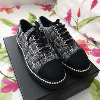 Chanel Tweed Trainers