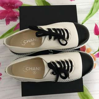 Chanel Two-Tone Trainers / Lace-up