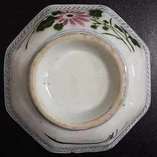 Vintage Octagon Porcelain Bowl