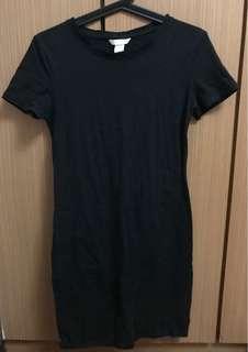 H&M Black Jersey Dress