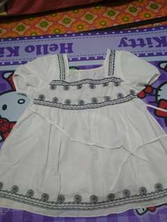 Blouse top putih bohemian boho