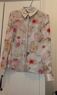 Ted baker floral printed shirt size 1