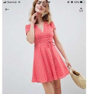 Glamorous Tea Dress Ditsy Rose