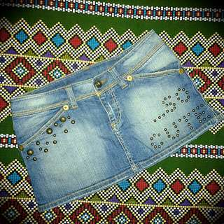 Bershka Maong Mini Skirt