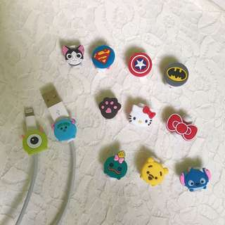 Character Iphone Cord Protector