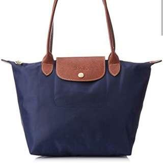 原價全新有收據Longchamp shoulder bag navy 側肩袋