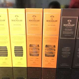 Macallan no1, no2, no3 ! 2 sets 行貨 6000/set