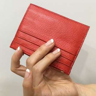 Hand-stitched leather cardholder