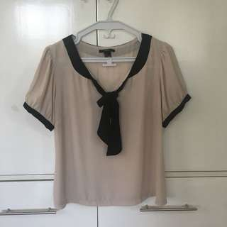 FOREVER 21/F21 Beige Chiffon Blouse