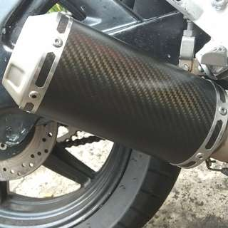 Akrapovic GP carbon fiber muffler slip on