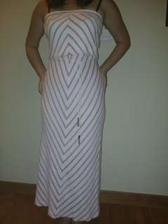Juicy Couture white and pink geometric tube dress