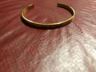 Due In July Gold plated bracelet