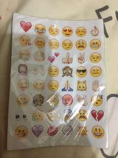 Emoji貼紙 19張