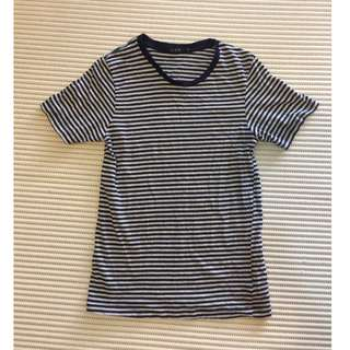 Navy-Grey Striped T-shirt