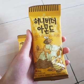 (NEW) SNACK KOREA - KACANG HONEY BUTTER ALMOND 100% ORIGINAL