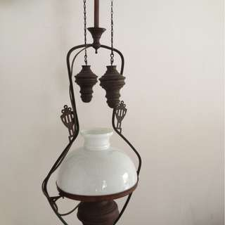 Dutch colonial antique oil lamp