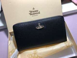 全新正貨 Vivienne Westwood Black Long Wallet 長款銀包 送禮自用
