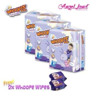Whoopee Pants Mega L48 (3 pack) + FOC Wipes (2 pack)