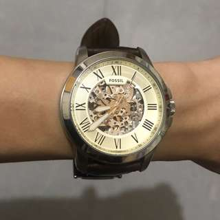 Fossil brown leather watch