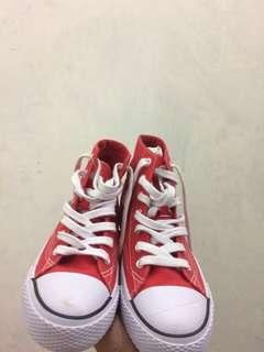 airwalk-legacee hi-top lace up sneakers red