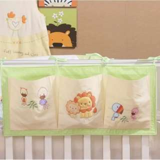 BN Baby Cot Crib Hanging Toy / Diaper Storage Organiser Pockets (A)
