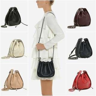 Valentino Small Rockstud Bucket Bag