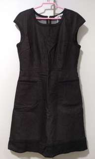 Brand New XL Black Denim Dress