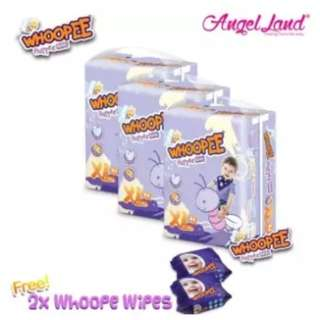 Whoopee Pants Mega XL44 (3 pack) + FOC Wipes (2 pack)