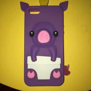 iPhone 5/5s Violet pig case