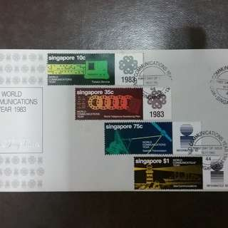 FDC WORLD COMUNICATIONS YEAR 1983 SINGAPORE