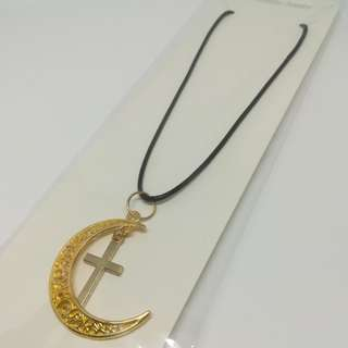 Moon collection with gold cross necklace