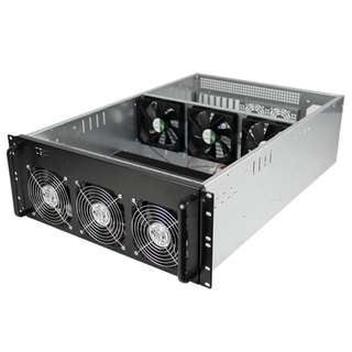 4U Ethereum 6-8 cards rig case
