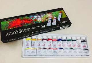 ACRYLIC 塑膠彩 12色