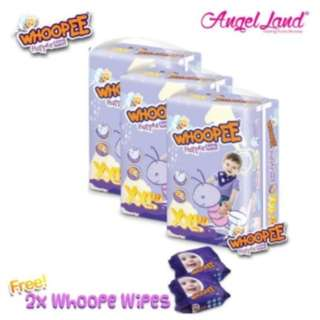 Whoopee Pants Mega XXL38 (3 pack) + FOC Wipes (2 pack)