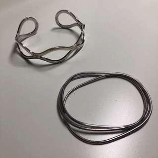 2 Silver bangles