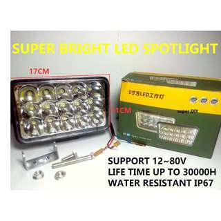 LED Spotlight Super Bright Car Truck Excavator