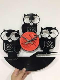 Disc Clock ( Owls )